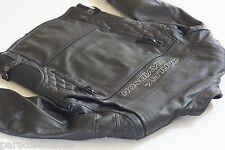 Harley Davidson Men's ORIGINAL COMPETITION Black Leather Jacket M Body Armor