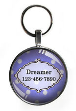1 One inch purple pet tag for small dog id puppy personalized steel backing 1