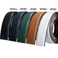 10 Styles Mens Replacement Belts 3.5cm Genuine Leather for Automatic Buckles