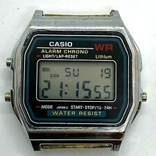 Casio Vintage A159W Retro Stainless Steel Digital Unisex Watch Very Rare Old