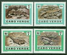 CAPE VERDE : 1988. Scott #491-94 WWF Animals. Very Fine, Mint NH. Catalog $50.00