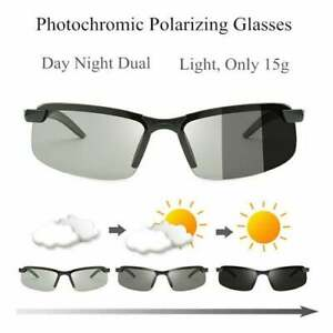 Unisex Photochromic Polarized Sunglasses - Lens changes color with brightness!