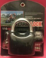 110dba Alarm Lock Security Padlock For Motor Bikers, Gates And Other Uses