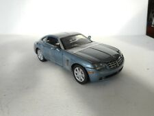 1:24 MOTORMAX CRYSLER CROSSFIRE METAL BLUE N MINT  STRAPS ON CAR