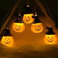 Halloween Indoor String Lights 20 LED Battery Operated LED Pumpkin Hat 3M
