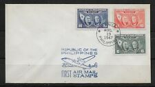 L3147 PHILIPPINES FIRST AIR MAIL STAMPS 1947 AVIATION