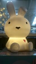 White Bunny Rabbit LED Table Lamp Children's Bedside Light NEW