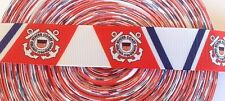 "7/8""  U.S. Coast Guard inspired Grosgrain Ribbon - By The Yard - USA Seller"