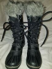 SOREL LADIES BOOTS/SHOES SIZE US/6 EU/37.5 UK 4.5 MADE IN VIETNAM HIGH TOP BLACK