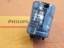100uF 250v Can Electrolytic Capacitors Philips 100uF 250v dia 25mm H=38mm   CJ23