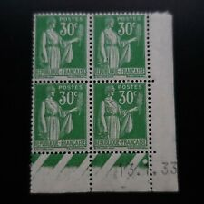 TIMBRE TYPE PAIX N°280 COIN DATÉ 13.01.1933 NEUF ** LUXE MNH