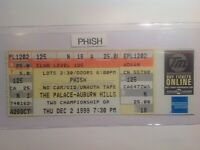 PHISH concert ticket 1999   Michigan.   {{FREE SHIPPING}}