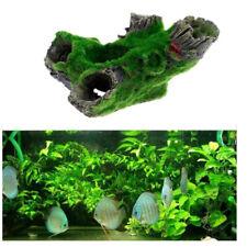 Aquarium Fish Tank Resin Ornament Hollow Tree Branch Moss House DecoratioYRDE