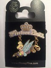 New Disney Pin Tinker Bell Dangle Pin Jeweled Crown 2007