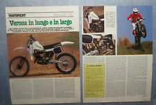 MOTOSPRINT982-PROVA / TEST-1982- VERONA MC 125 - 2 fogli