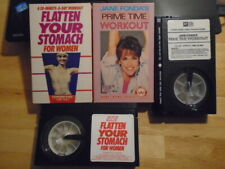 RARE OOP Jane Fonda Prime Time Workout 2x BETA betamax video flatten stomach '84