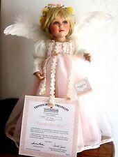 COMFORTING KISS Porcelain Doll Sandra Kuck Love Comes on Angels' Wings Col COA