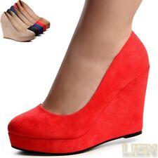 Mujer Plataforma Zapatos de Tacón Cuña Bailarinas Fiesta Boda Zapatos Mujer