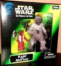 KENNER STAR WARS Power of the Force POTF KABE MUFTAK Action Figure NIB Sealed
