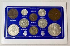 More details for 1940 vintage coin set 81st birthday birth year present wedding anniversary gift