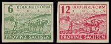 EBS Germany 1945 Soviet Zone SBZ Saxony Land Reform imperf. Michel 85-86 MNH**