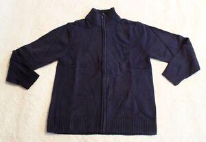 The Children's Place Boy's Uniform Zip Up Mock Neck Sweater CM9 Tidal Large