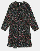 ZARA WOMAN NWT SALE! PRINTED DRESS WITH PLEATED SKIRT SIZE M REF: 3440/243
