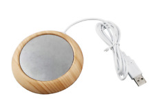 5W USB Bright Wooden Grain Cup Warmer Heat Beverage Mug Mat Safe and Durable