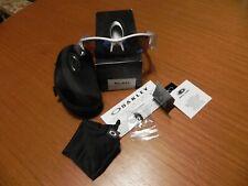 NEW old stock Oakley Flak Jacket sunglasses Polished White / Blue /Golf Lens