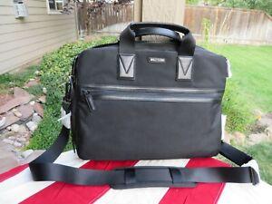 """Michael Kors Parker Briefcase Messenger Laptop Bag 16"""" NEW Black Expandable $298"""