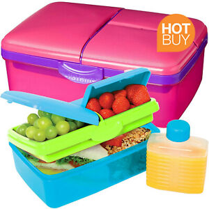 1.5 Litre Packed Lunch Box BPA Free Kids Back To School Dishwasher Freezer Safe