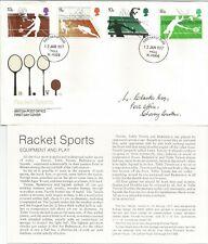 GB FDC 1977 RACKET SPORTS