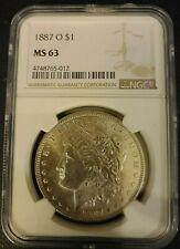 1887 o Morgan Dollar Graded NGC MS 63