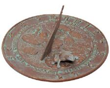 "Frog Copper Verdi Aluminum 12"" Sundial by Whitehall Products"