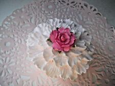 FAKE CUPCAKE- Shabby Cottage Chic - Pale Pink Carnation with Pink Rose