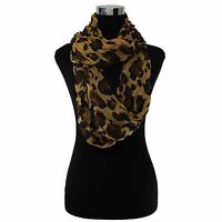 LOT OF WOMEN'S FASHION STYLISH LEOPARD CHEETAH ANIMAL PRINT INFINITY COWL SCARF