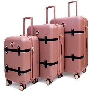 BADGLEY MISCHKA Grace 3 Piece Expandable Retro Luggage Set
