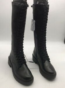 Reserved Lace Up Knee High Chunky Boots Military Bikers Combat size U.K 8 EUR 41
