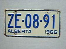 1966 ALBERTA Vintage License Plate # ZE-08-91