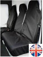 RENAULT TRAFFIC 2014 ONWARDS HEAVY DUTY BLACK WATERPROOF VAN SEAT COVERS 2+1