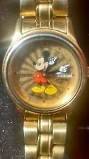 VINTAGE SEIKO SUNBURST MICKEY MOUSE WATCH ENG/SPN WORKING WOMENS/KIDS