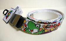 NINTENDO Super Mario Brothers MARIO LUIGI BOWSER metal buckle canvas BELT sz-40