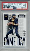 2016 CONTENDERS PSA MINT 9 #2 JARED GOFF ROOKIE FOOTBALL GRADED CARD RAMS RC