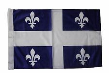 "QUEBEC CANADA Provincial 12"" X 18"" Inch CAR STICK Flag Banner WITHOUT POLE..NEW"