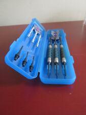 Vintage GLD Dart Set Blue Translucent Case Soft Tip Darts