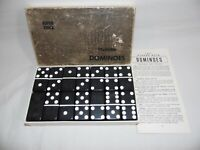 Marblelike Dominoes BLACK # 816 Super Thick Vintage in Box Puremco Mfc Texas