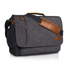 Men Crossbody Shoulder Bag Messenger Travel 15.6 inch Laptop Bag Canvas Travel