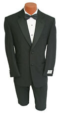 46XL New Mens Black Devin Michaels Tuxedo with Pants Wedding Prom Mason 40 Waist