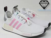 """Women's Adidas Originals NMD R1 """"White / True Pink"""" (FZ3777) Size 7.5-9.5"""