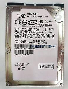 "2.5 ""Hitachi 160GB 5400RPM HTS541616J9SA00 SATA Notebook hard drive"